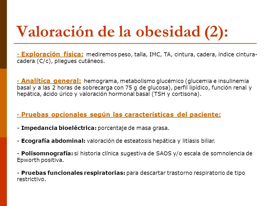 Valoración de la obesidad (2):