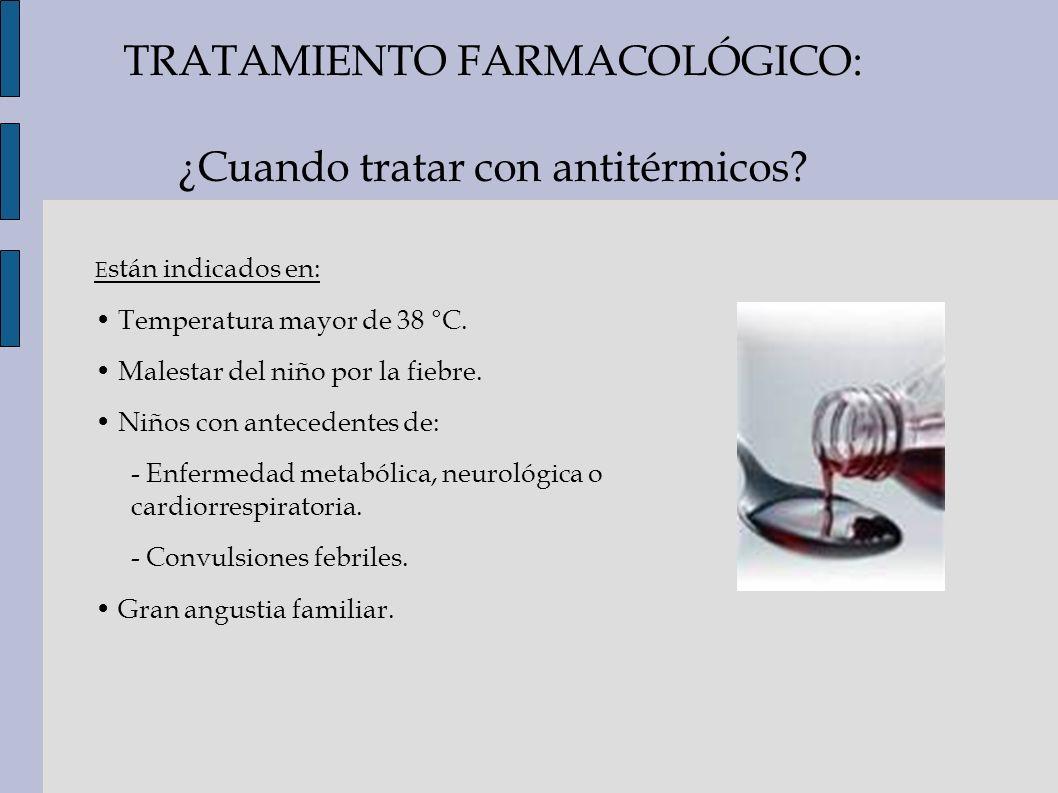 TRATAMIENTO FARMACOLÓGICO: ¿Cuando tratar con antitérmicos