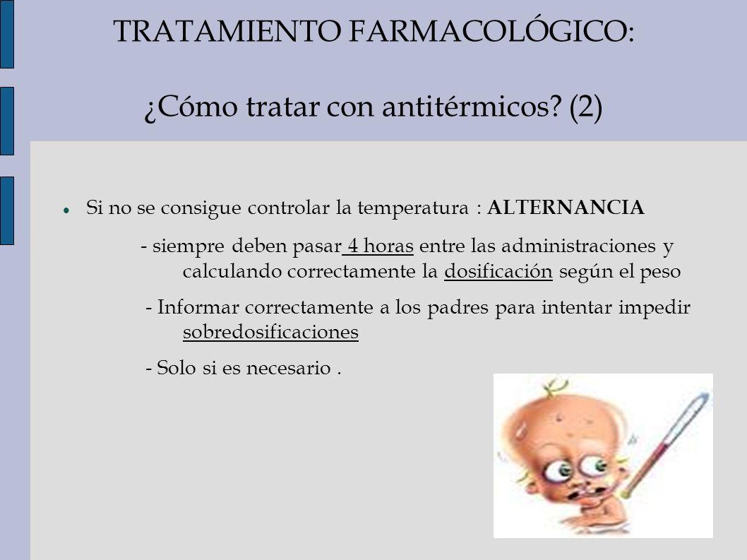 TRATAMIENTO FARMACOLÓGICO: ¿Cómo tratar con antitérmicos (2)