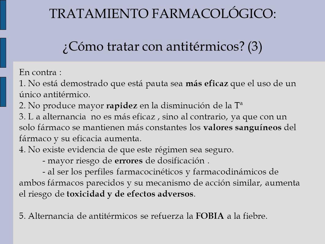 TRATAMIENTO FARMACOLÓGICO: ¿Cómo tratar con antitérmicos (3)