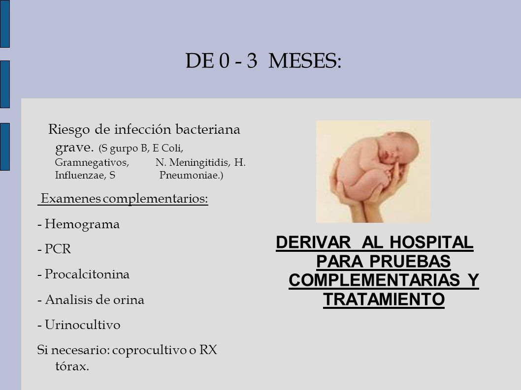 DERIVAR AL HOSPITAL PARA PRUEBAS COMPLEMENTARIAS Y TRATAMIENTO