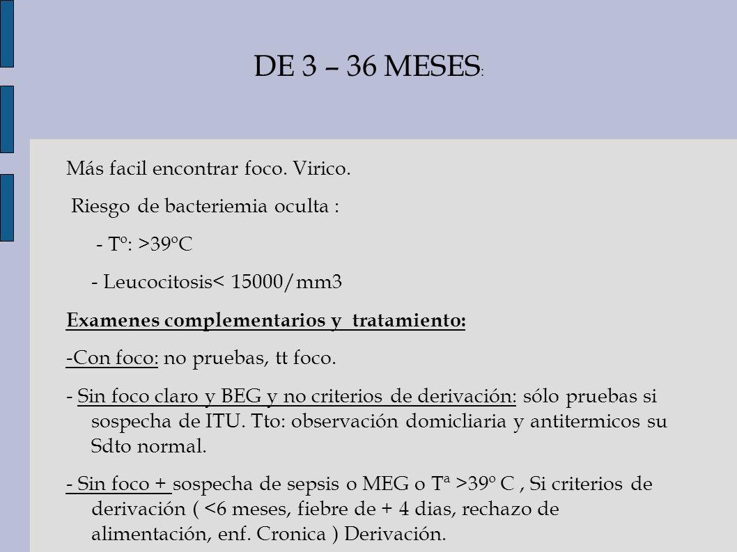 DE 3 – 36 MESES: Más facil encontrar foco. Virico.