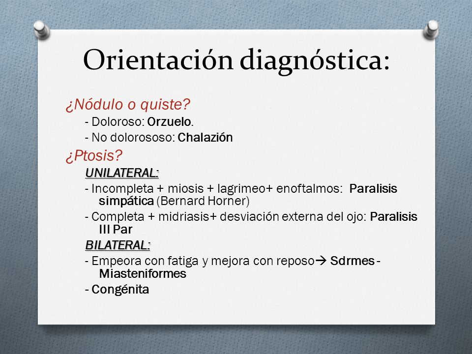 Orientación diagnóstica: