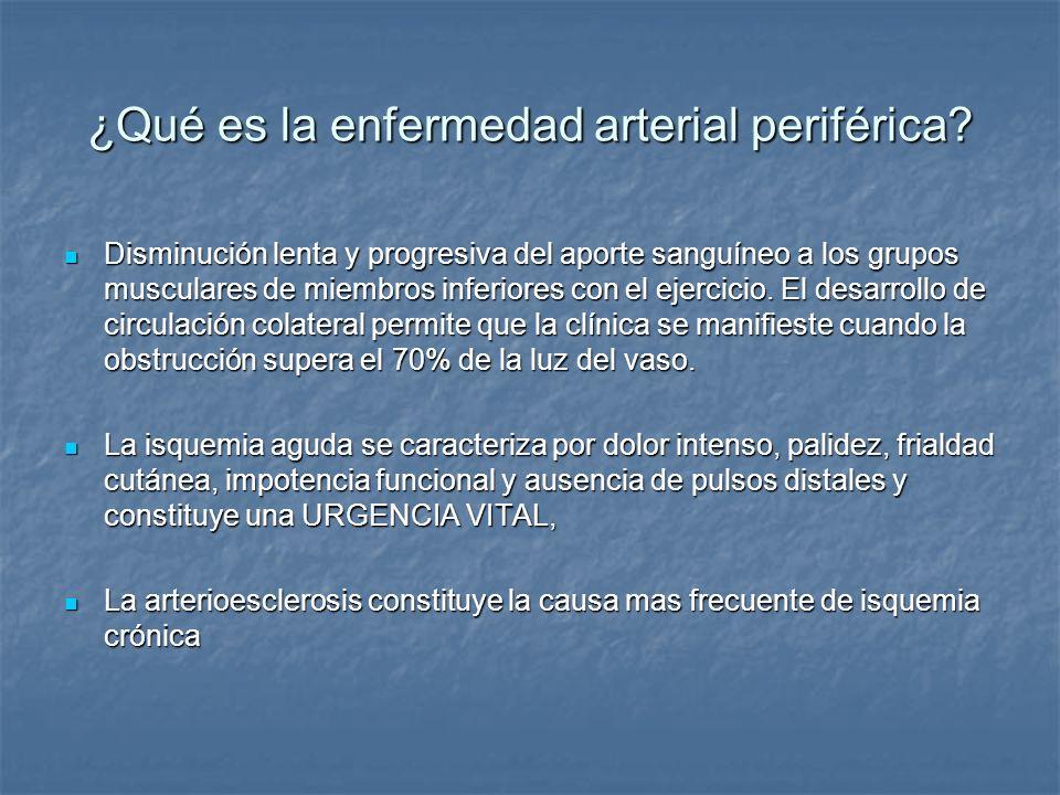 ¿Qué es la enfermedad arterial periférica
