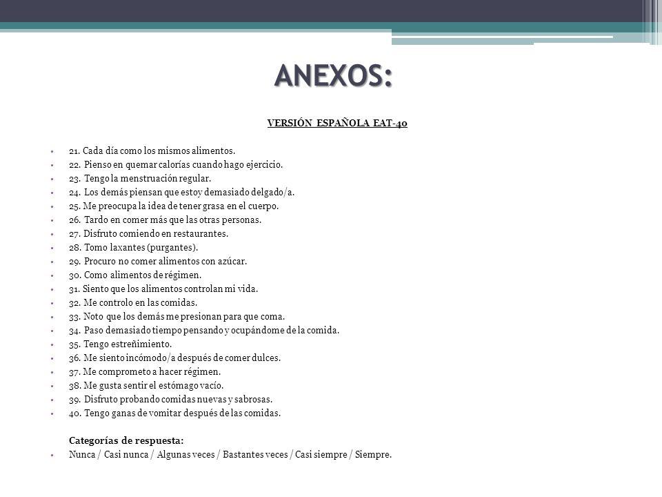 ANEXOS: VERSIÓN ESPAÑOLA EAT-40