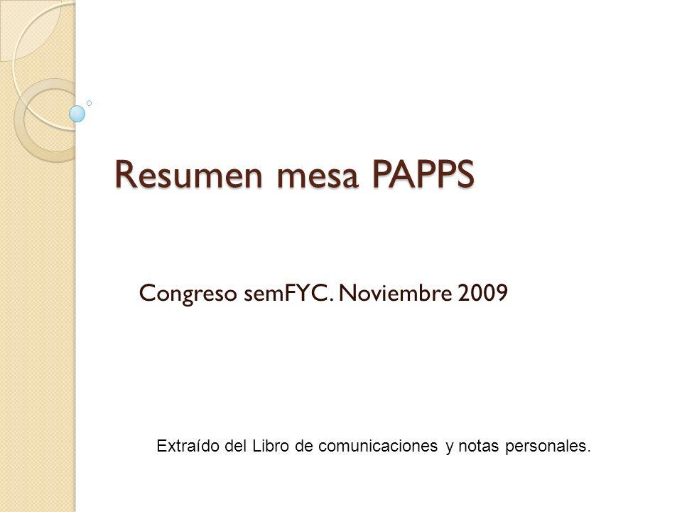 Congreso semFYC. Noviembre 2009