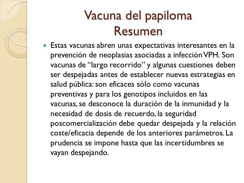 Vacuna del papiloma Resumen