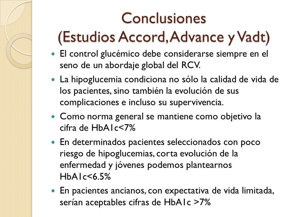 Conclusiones (Estudios Accord, Advance y Vadt)