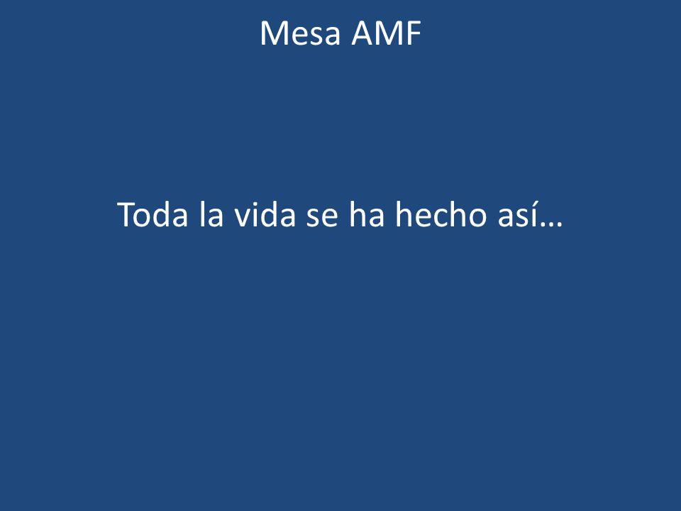 Mesa AMF Toda la vida se ha hecho así…