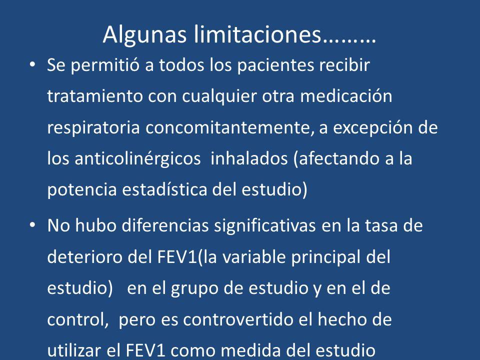 Algunas limitaciones………