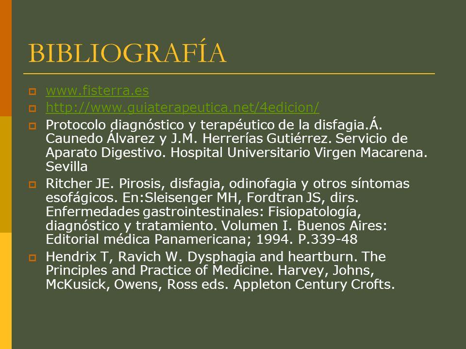 BIBLIOGRAFÍA www.fisterra.es http://www.guiaterapeutica.net/4edicion/