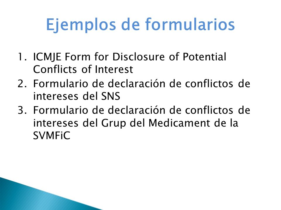 conflict of interest declaration template - maria jos monedero mira ppt descargar