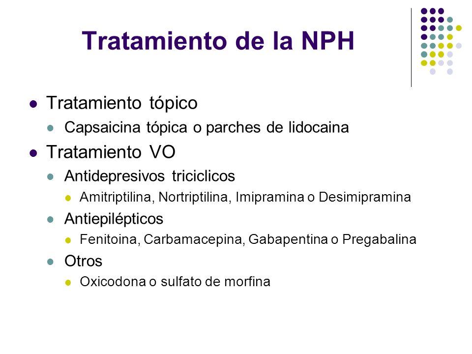Tratamiento de la NPH Tratamiento tópico Tratamiento VO