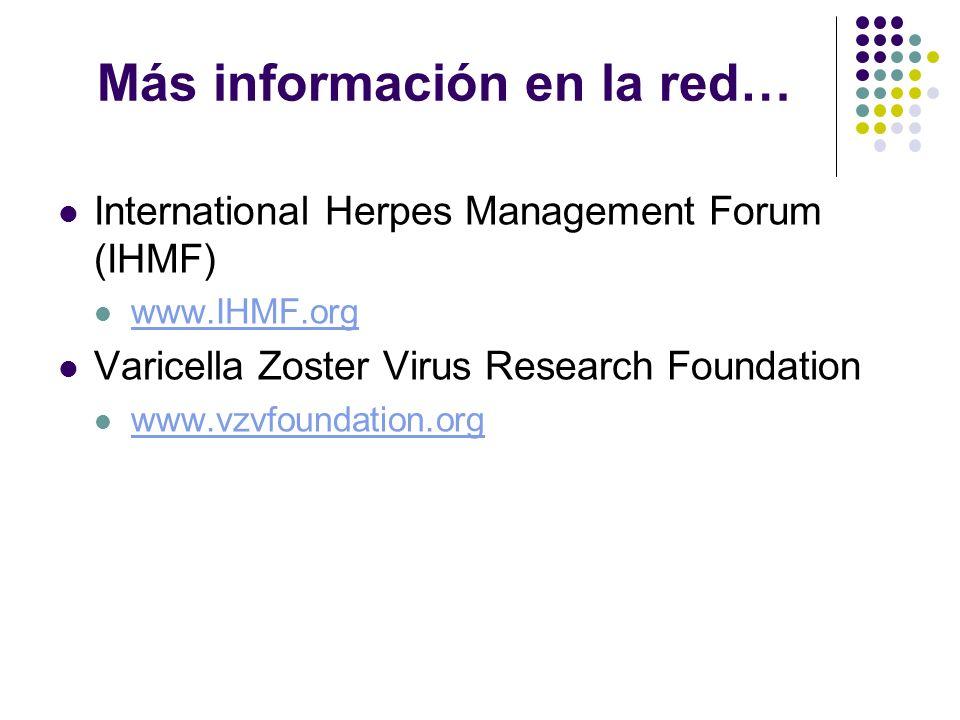 Más información en la red…