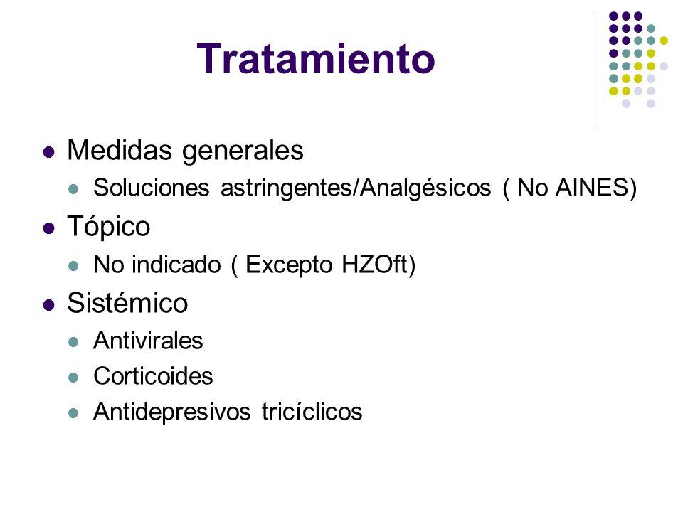 Tratamiento Medidas generales Tópico Sistémico