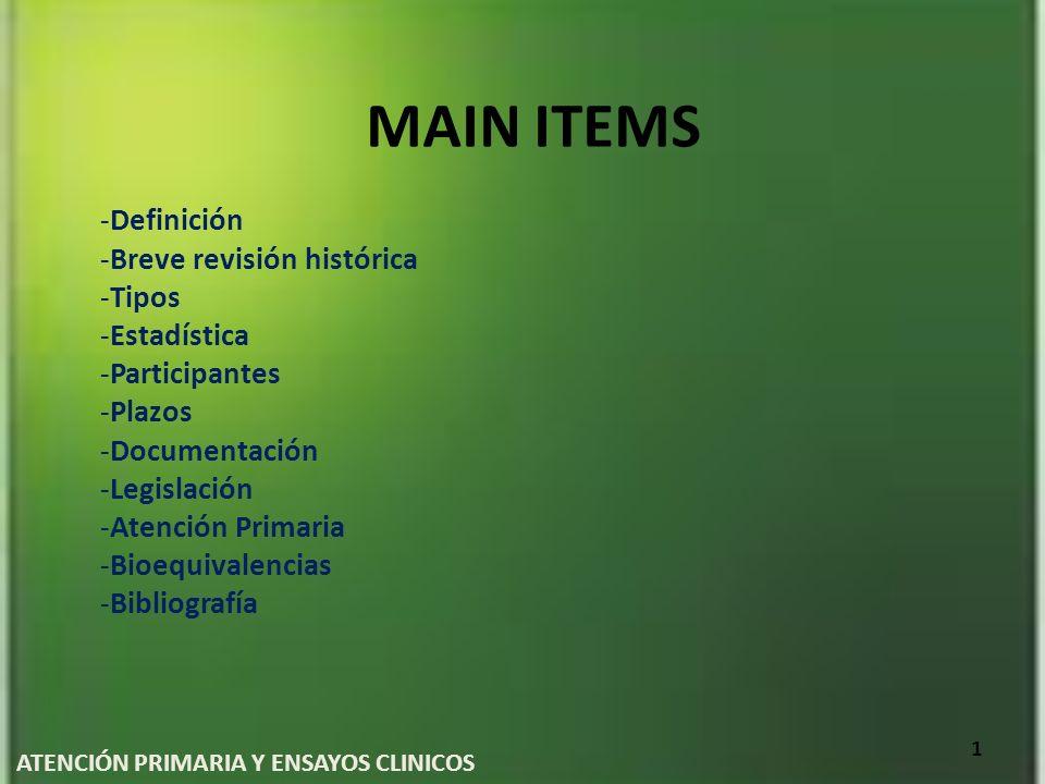 ATENCIÓN PRIMARIA Y ENSAYOS CLINICOS