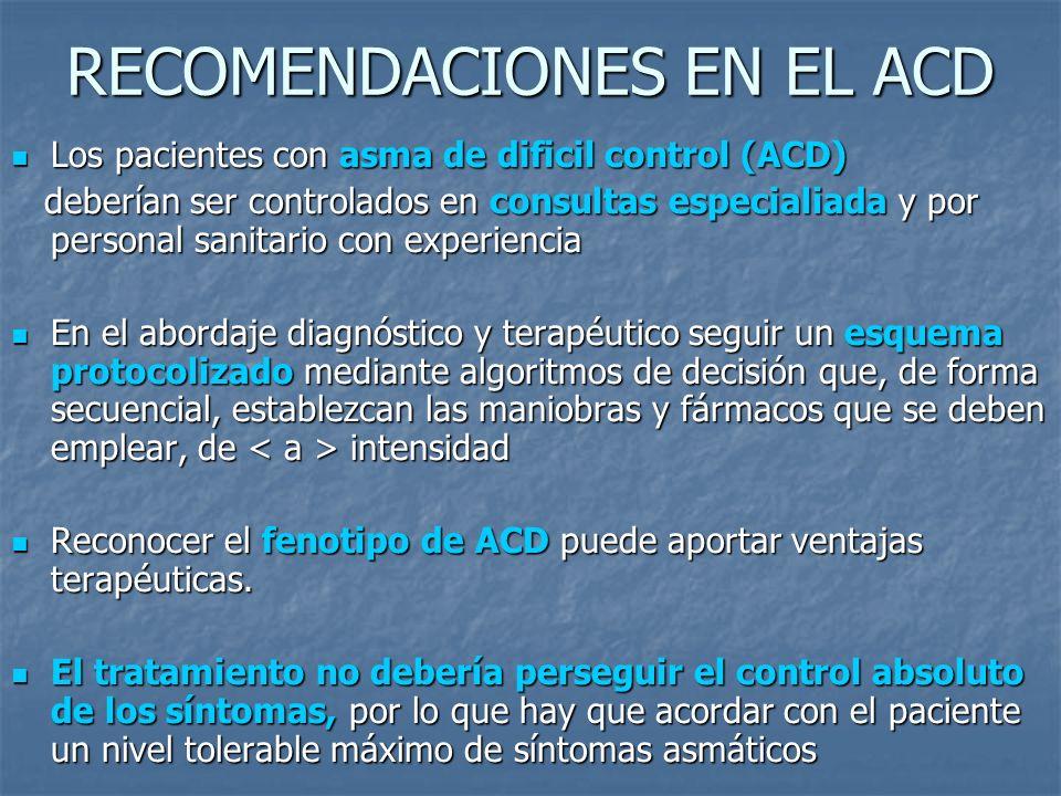 RECOMENDACIONES EN EL ACD