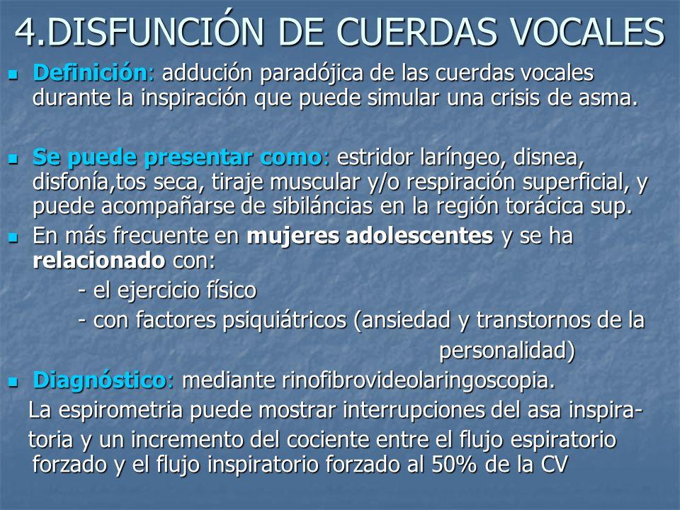 4.DISFUNCIÓN DE CUERDAS VOCALES