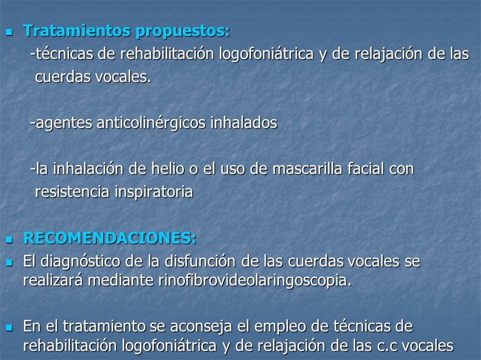 Tratamientos propuestos: