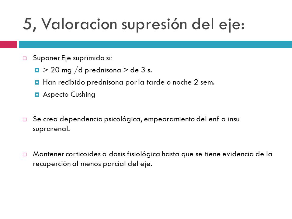 5, Valoracion supresión del eje: