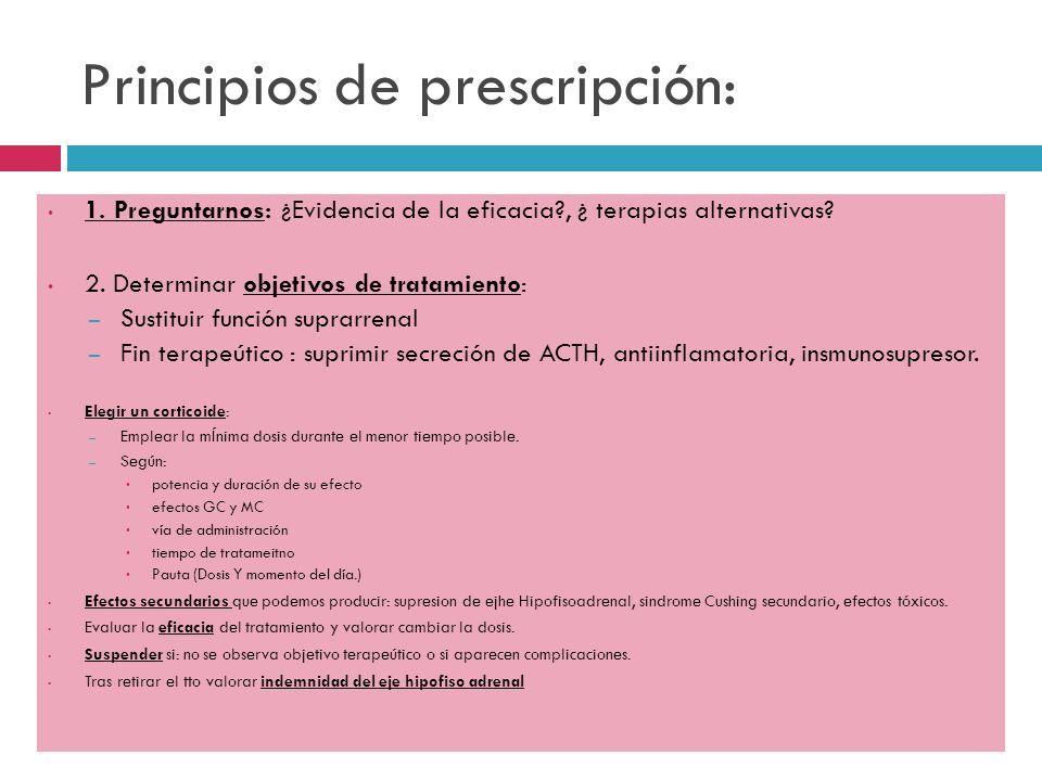 Principios de prescripción: