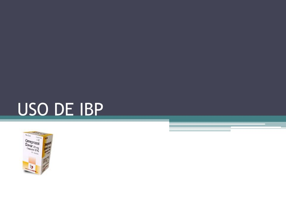 USO DE IBP