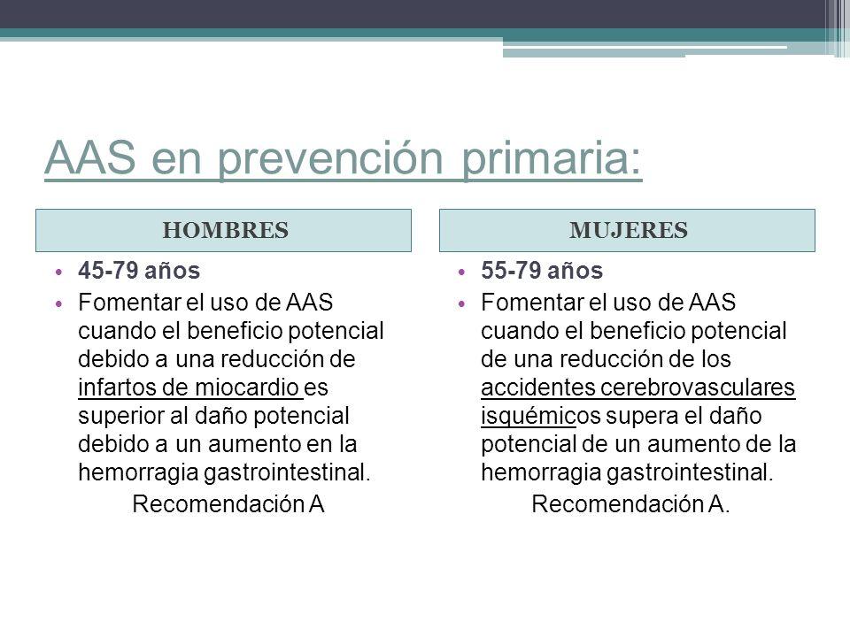 AAS en prevención primaria: