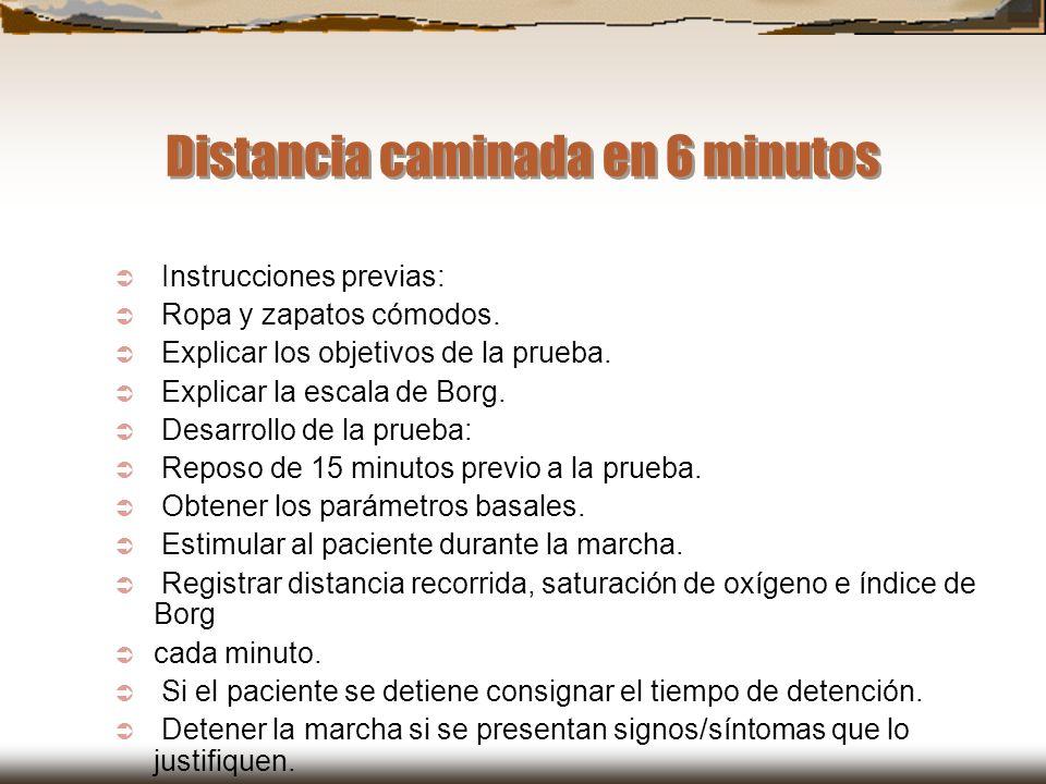 Distancia caminada en 6 minutos