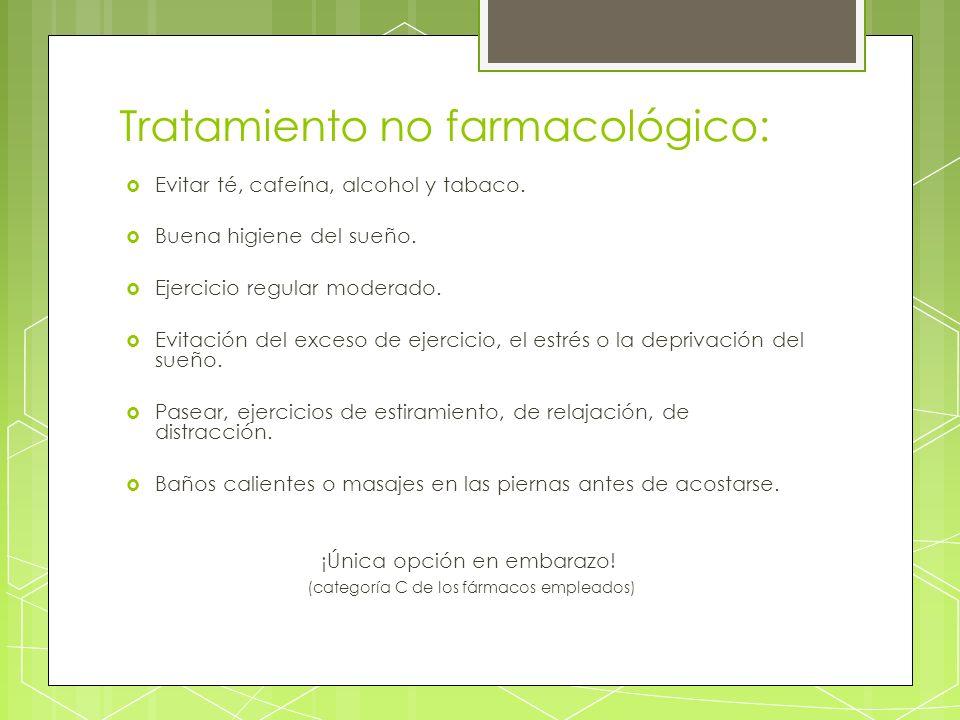 Tratamiento no farmacológico: