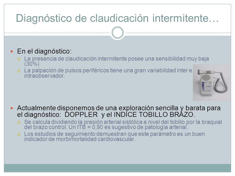 Diagnóstico de claudicación intermitente…