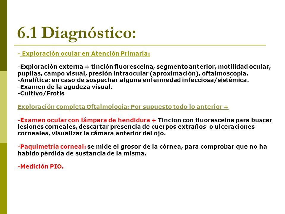 6.1 Diagnóstico: Exploración ocular en Atención Primaria: