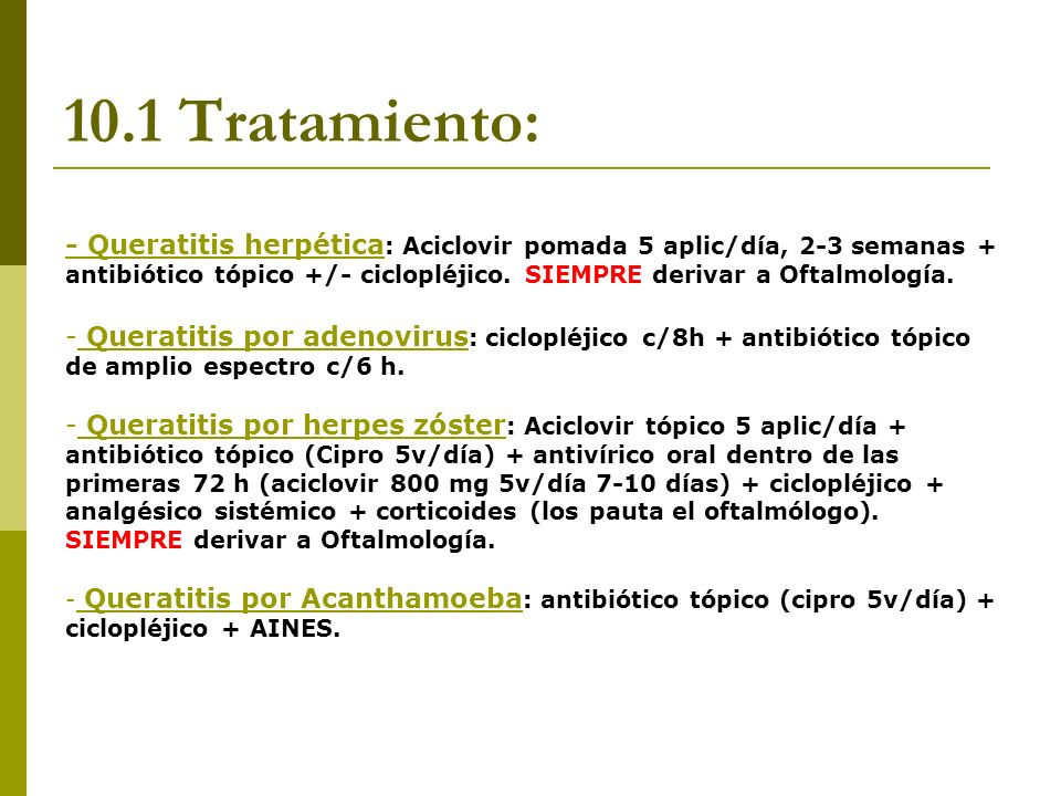 10.1 Tratamiento: