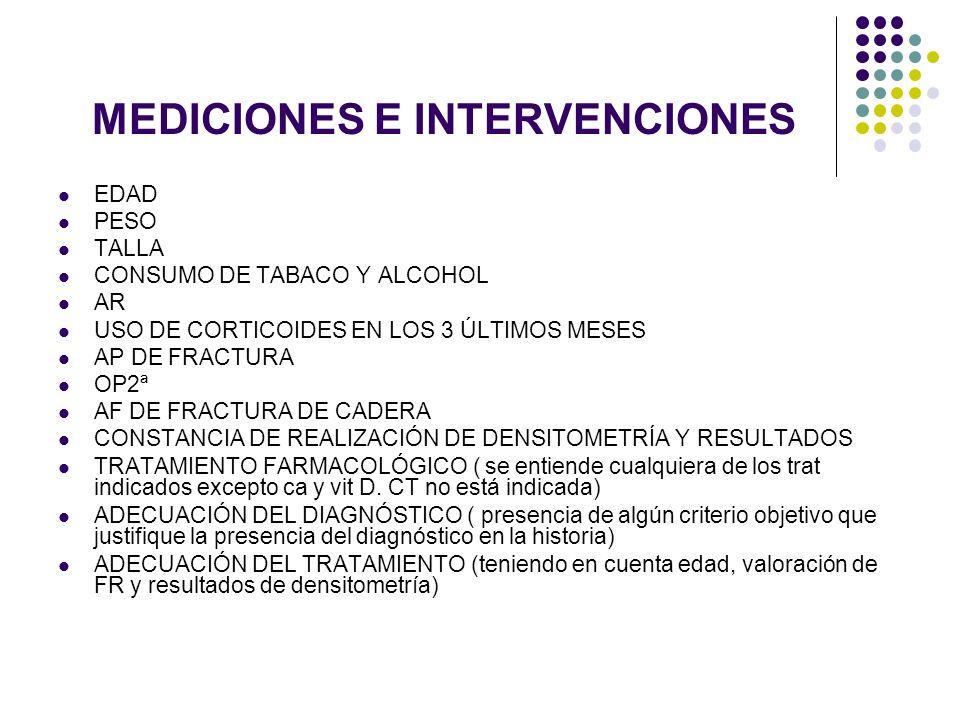 MEDICIONES E INTERVENCIONES