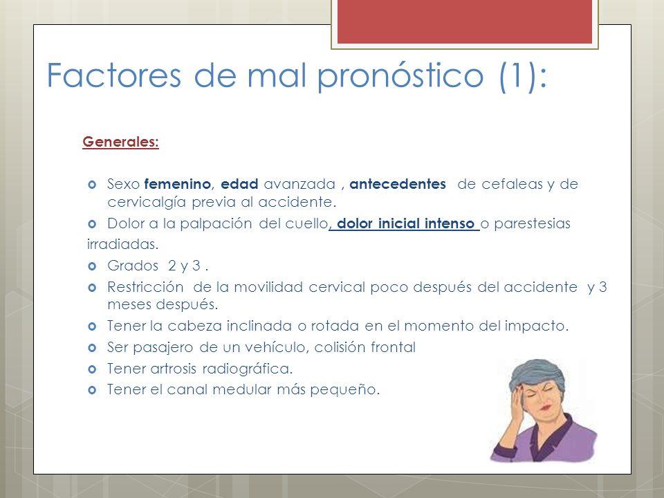Factores de mal pronóstico (1):
