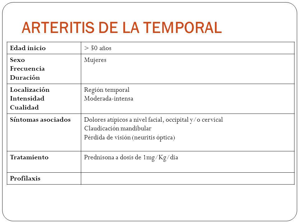 ARTERITIS DE LA TEMPORAL