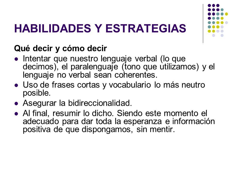 HABILIDADES Y ESTRATEGIAS