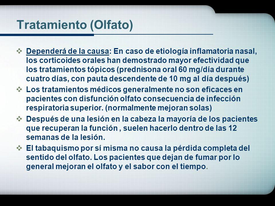 Tratamiento (Olfato)