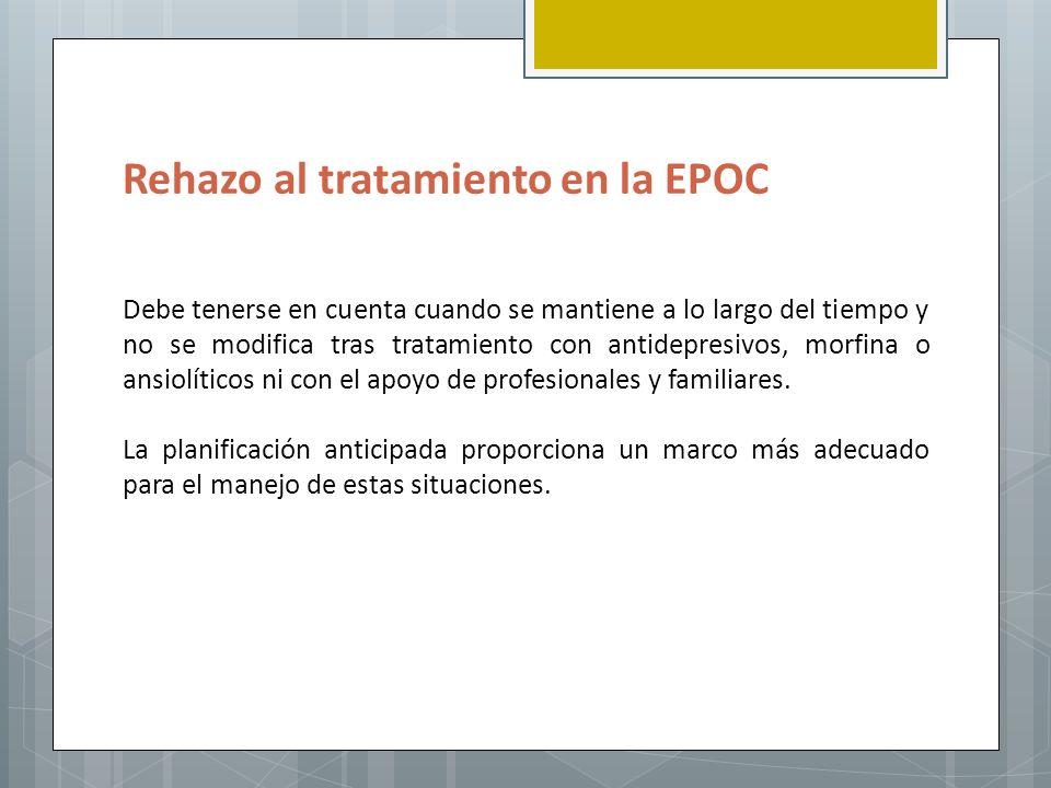 Rehazo al tratamiento en la EPOC