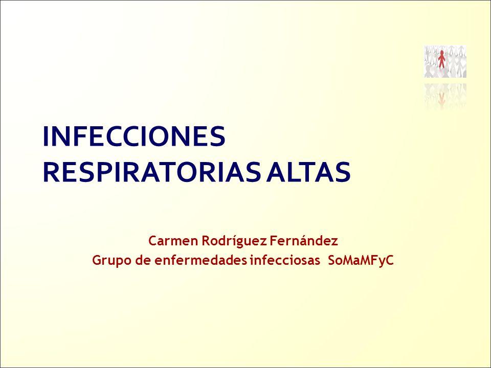 Carmen Rodríguez Fernández Grupo de enfermedades infecciosas SoMaMFyC