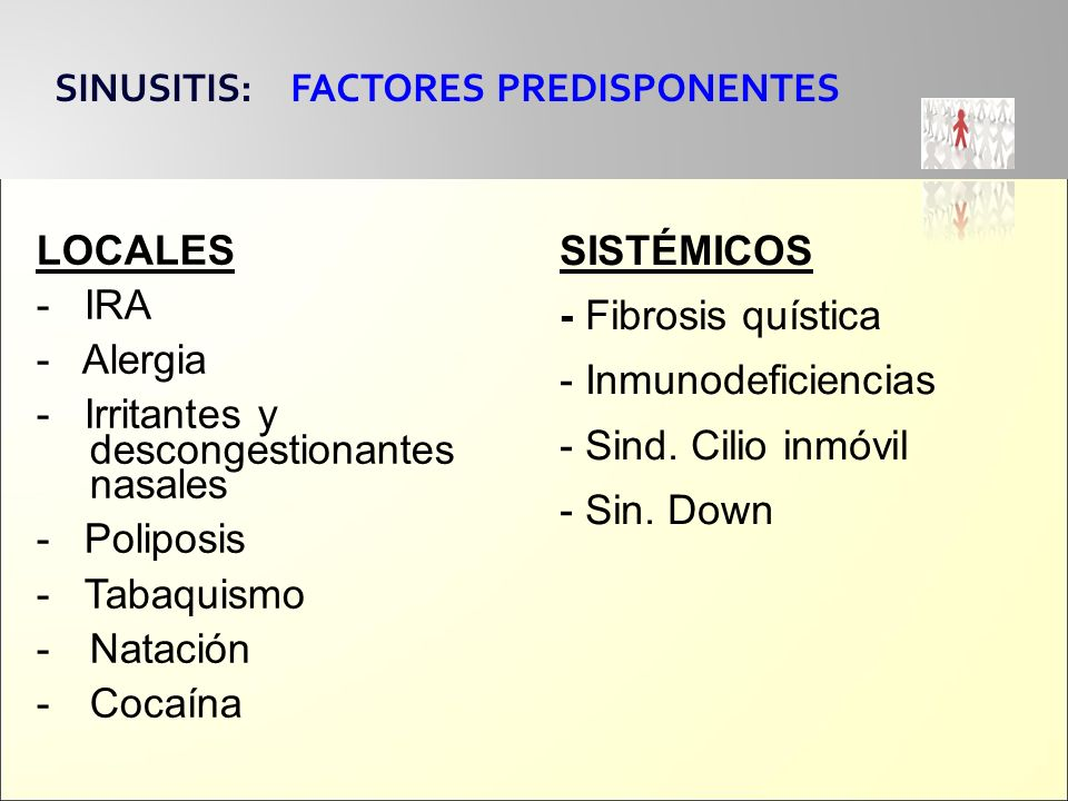 SINUSITIS: FACTORES PREDISPONENTES