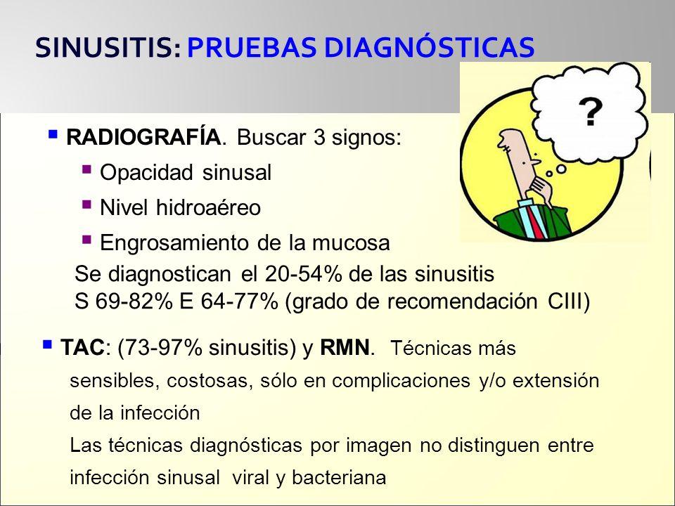 SINUSITIS: PRUEBAS DIAGNÓSTICAS
