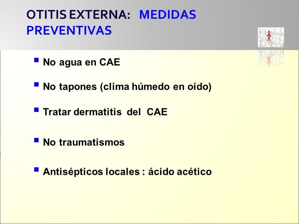 OTITIS EXTERNA: MEDIDAS PREVENTIVAS