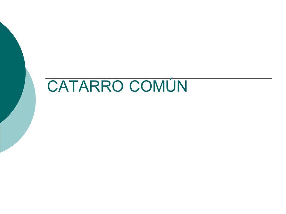 CATARRO COMÚN