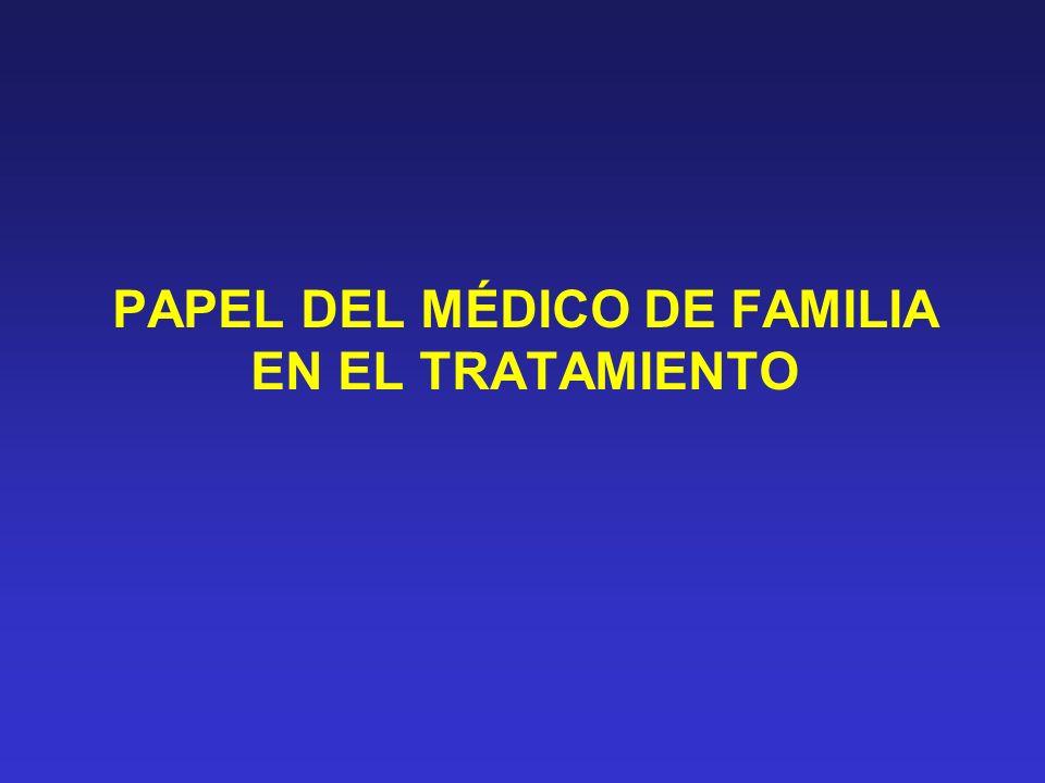PAPEL DEL MÉDICO DE FAMILIA EN EL TRATAMIENTO