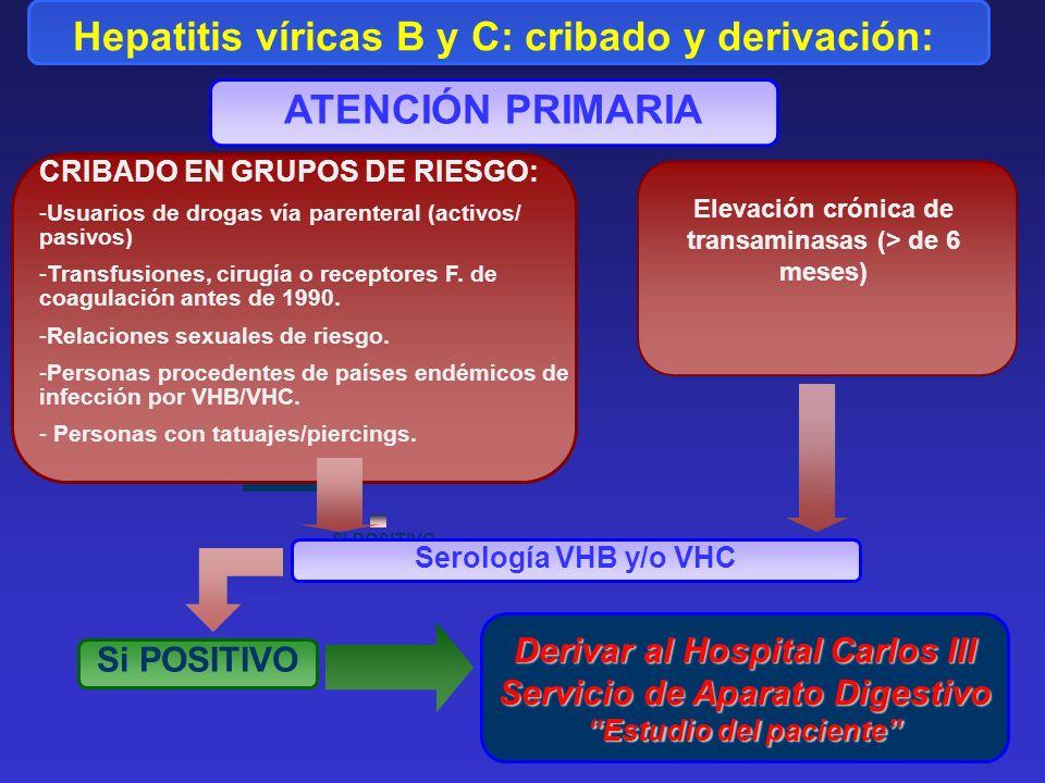 Hepatitis víricas B y C: cribado y derivación: