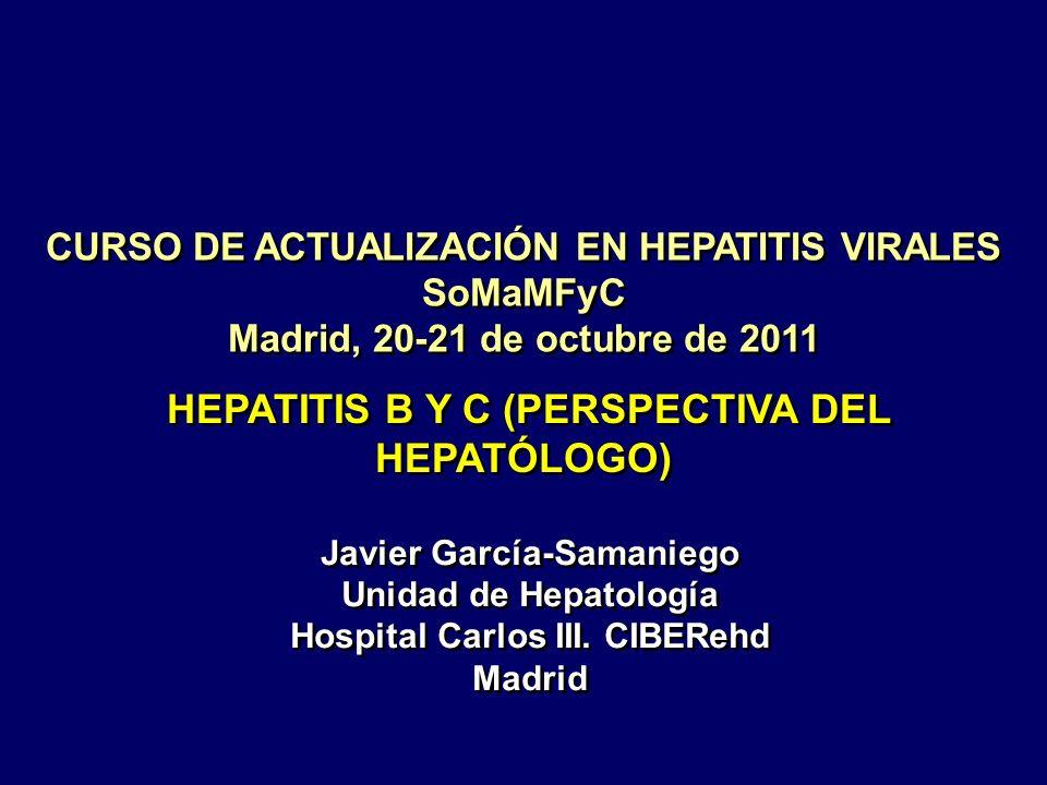 CURSO DE ACTUALIZACIÓN EN HEPATITIS VIRALES SoMaMFyC