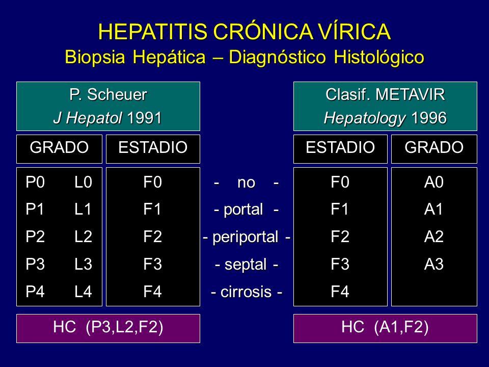 HEPATITIS CRÓNICA VÍRICA Biopsia Hepática – Diagnóstico Histológico