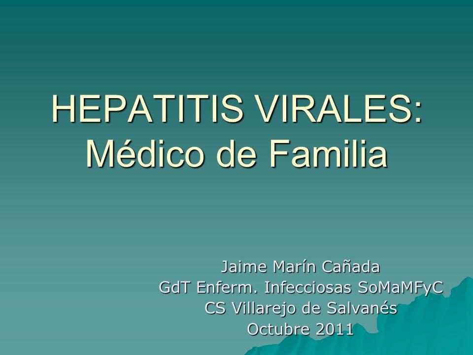 HEPATITIS VIRALES: Médico de Familia