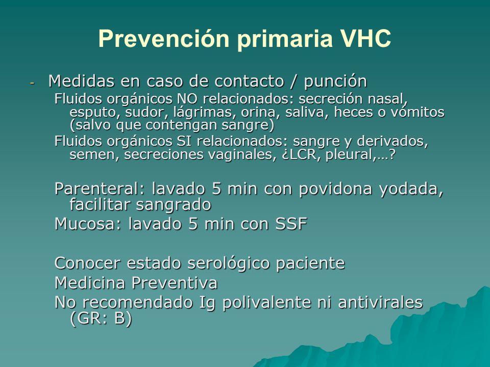 Prevención primaria VHC