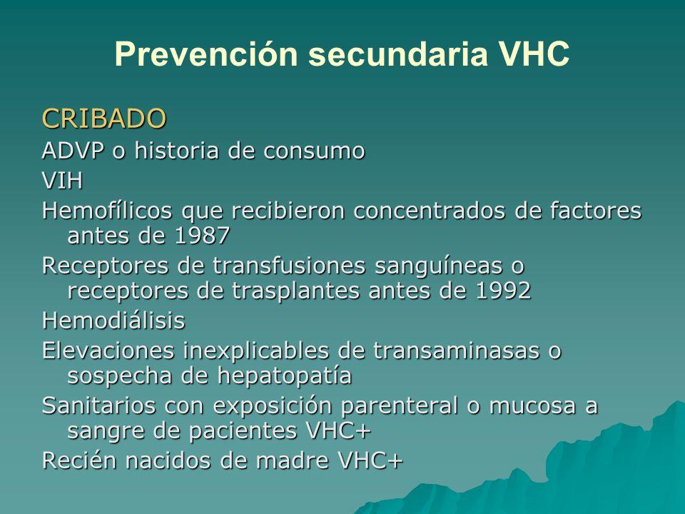 Prevención secundaria VHC
